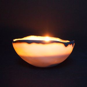 Porcelain Tea Light Shell - candles & candlesticks