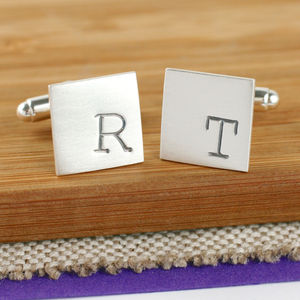 Personalised Stamped Typewriter Initial Cufflinks