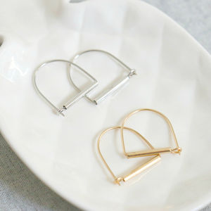 Two Way Stirrup Earrings