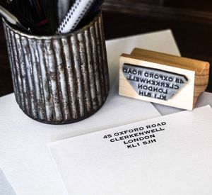 Personalised Address Rubber Stamp - wedding stationery