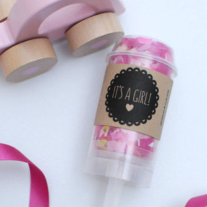 It's A Girl Confetti Pop - baby shower gifts & ideas