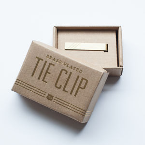 Fine And Dandy Brass Tie Clip - stocking fillers under £15
