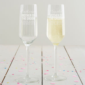 Personalised Mother Of The Groom Champagne Flute - drink & barware