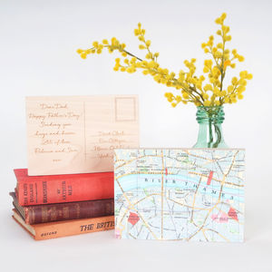 Bespoke Map Postcard Ornament - gifts for mothers