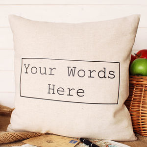 Your Words Square Cushion - decorative accessories