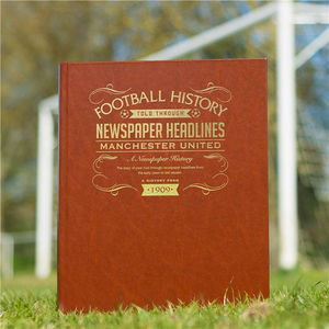 Personalised Football Club Team History Book - gifts for football fans