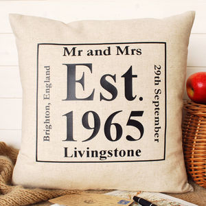 Anniversary Date Cushion Square - home sale