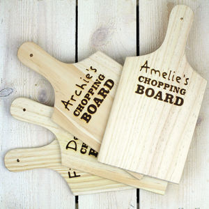 Children's Personalised Chopping Board - chopping boards