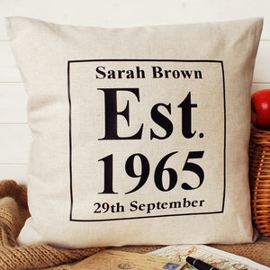 Birthday Present Cushion - personalised cushions