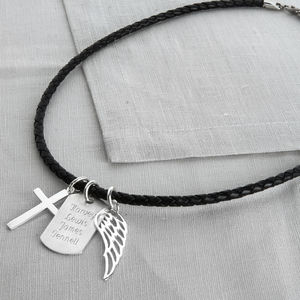 Personalised Sterling Silver Karma Dog Tag Necklet