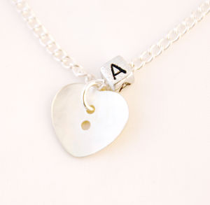 Personalised Mother Of Pearl Heart Necklace - necklaces & pendants