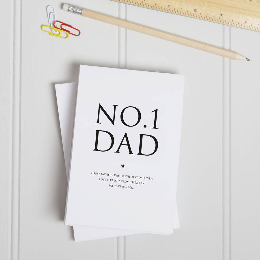 Personalised Number One Dad Notepad