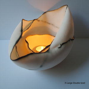 Double Porcelian Tealight Bowl - table decorations