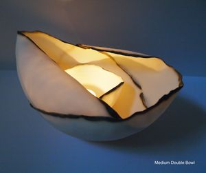 Double Porcelian Tealight Bowl - room decorations