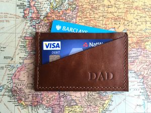 Leather Credit Card Holder - stocking fillers under £15