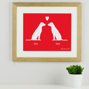 Personalised Labradors In Love Print