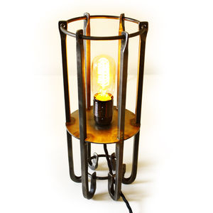 Hand Crafted Wrought Iron Table Lamp - table lamps