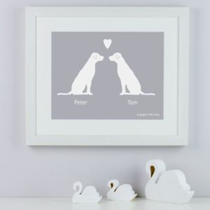 Personalised Labradors In Love Print - pet-lover