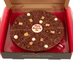 Personalised Chocolate Pizza - food gifts