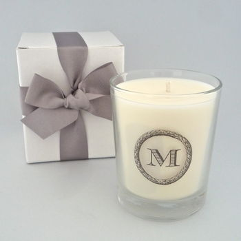 Printed Initial Scented Candle