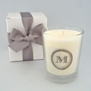 Printed Initial Scented Candle - candles