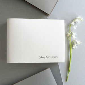 Personalised Silver Wedding Leather Photo Album - by year