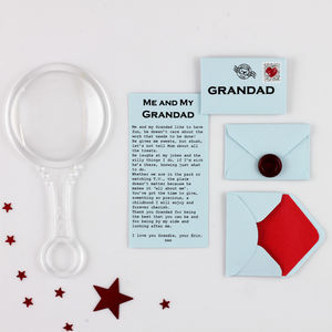 Personalised Grandad Birthday Card Alternative - gifts for grandparents
