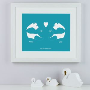 Personalised Pandas In Love Print - view all sale items