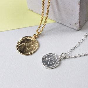 Personalised Coin Necklace - women's jewellery