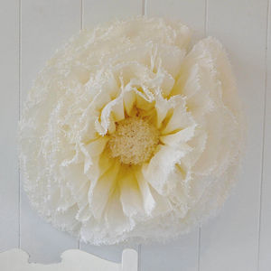 Giant Sunny Yellow And Ivory Ombre Paper Flower Daisy
