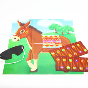 Circus Party Pin The Tail On The Donkey Game - interests & hobbies