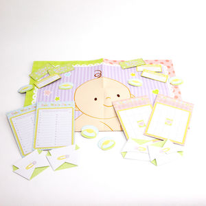 Baby Shower Complete Game Kit - christening invitations