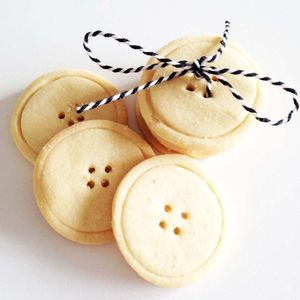 Handmade Shortbread Button Biscuits - cakes & sweet treats