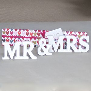 'Mr And Mrs' Wooden Words Decoration