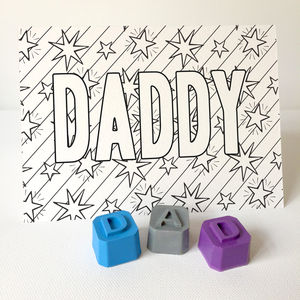 Colour In Dad Card With Crayons