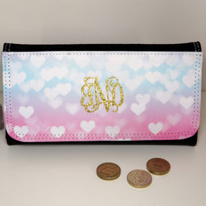 Personalised Ladies Wallet With Gold Glitter Monogram - bags & purses