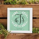 Personalised Wedding Monogram Framed Print