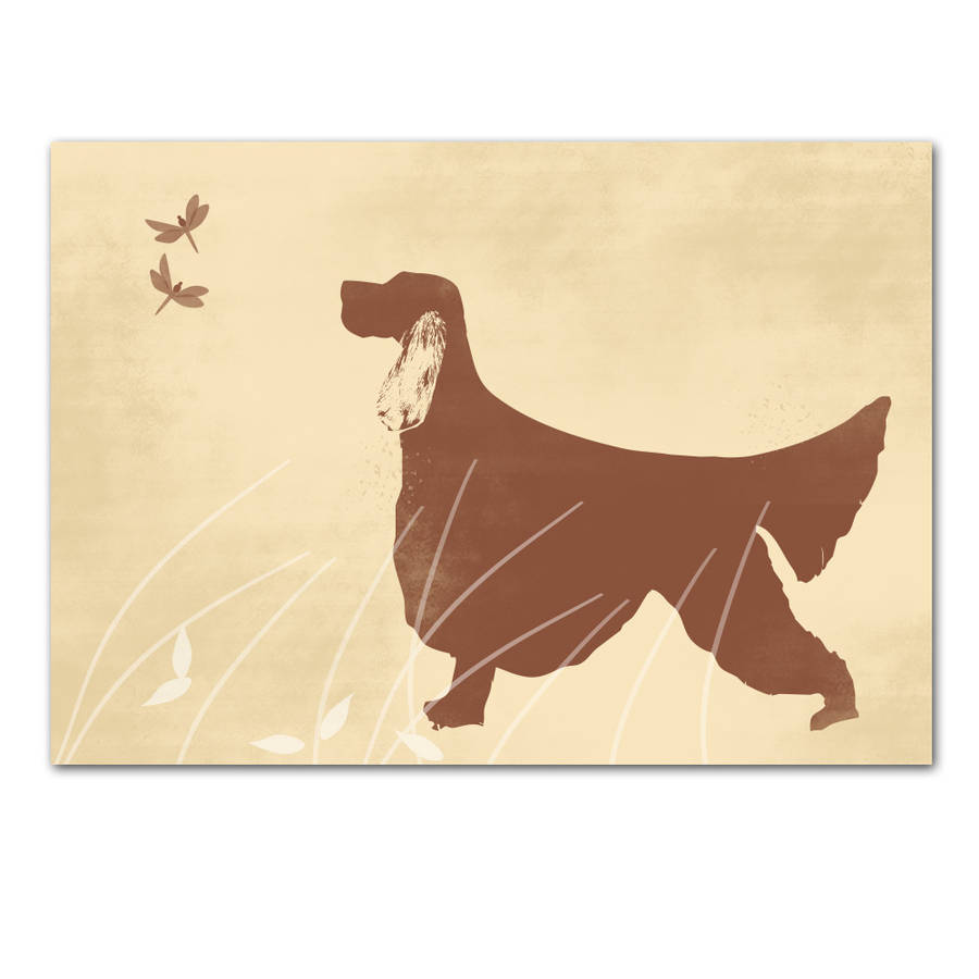 Irish Setter Dog Art