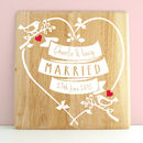 Personalised Wedding Love Birds Wooden Print