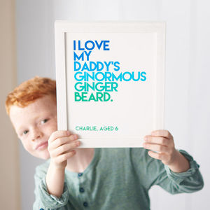 Personalised Child's Quote Print - gifts for fathers