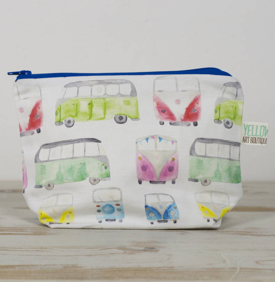 Small Handmade Campervan Make Up Bag Pouch