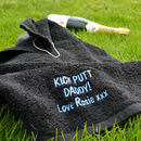 Personalised Kick Putt Golf Towel