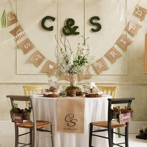 Hessian 'Just Married' Bunting