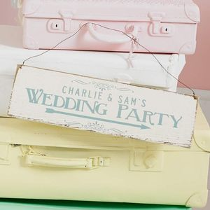 Personalised Wedding Party Direction Sign - pretty pastels