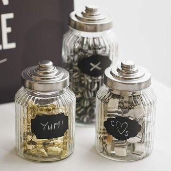 Twelve Pack Of Reuseable Chalkboard Jam Jar Labels