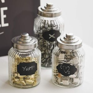 Twelve Pack Of Reuseable Chalkboard Jam Jar Labels