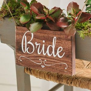 Bride And Groom Wedding Signs Handmade And Handpainted - room decorations