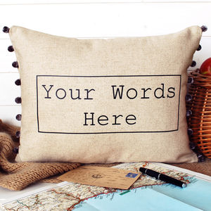 Your Words Pesonalised Cushion - bedroom