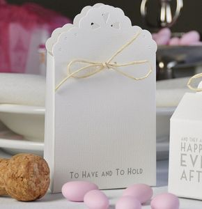 Wedding Favour Boxes Text 'To Have And To Hold' - wedding favours