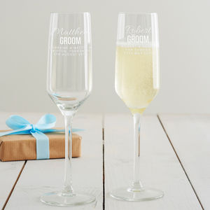 Personalised Groom Champagne Glass - view all